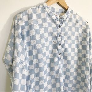 Levi's Checkered Long Sleeve Top Size Medium